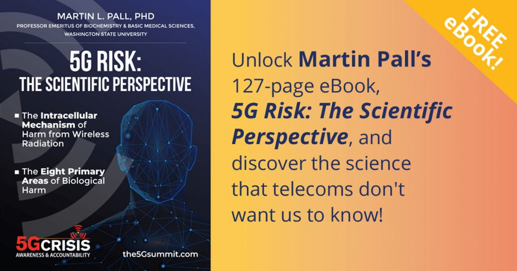 Download Free eBook about 5G Risk - Scientific Perspective, learn the science that proves biologically harmful effect of 5G deployments and EMF wireless radiation