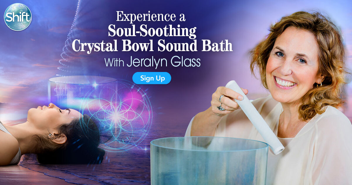 crystal alchemy sound healer Jeralyn Glass will lead you through a crystal alchemy soul-soothing sound bath