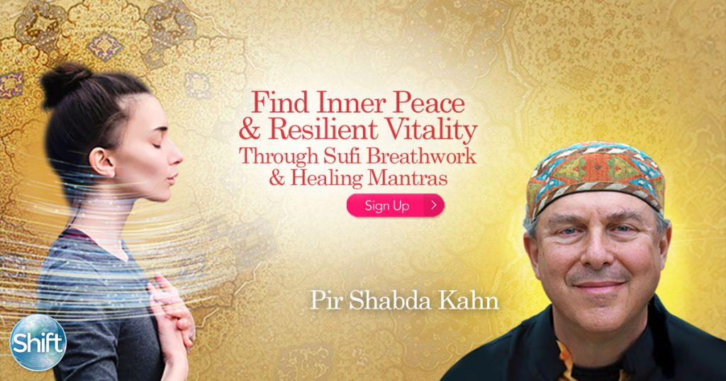 Sufi conscious breathing practice and healing mantras